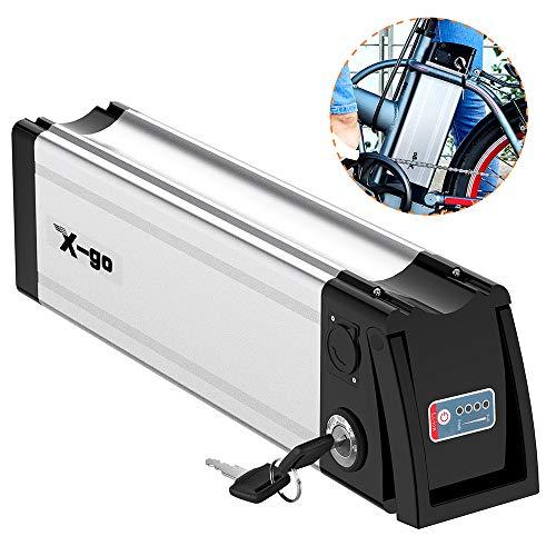 X-go Batteria agli Ioni di Litio 36V 10Ah agli Ioni di Litio Batteria a Quattro Poli Batteria a Scarica Elettrica (Scarica Verso Il Basso)