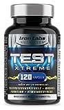 TEST XTREME® - Hardcore Booster für Männer mit Aminosäuren, Zink & Vitamin D für Testosteron & Muskelfunktion | 120 Kapseln
