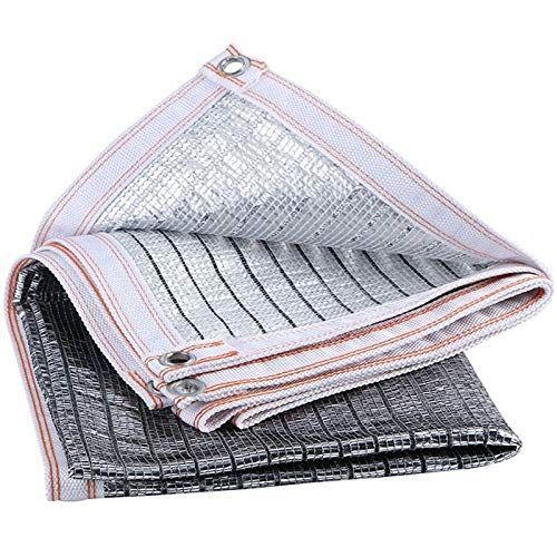 Aluminum foil Reflective Sunshade net in Summer 85% Shading Rate Roof Courtyard roof Heat Insulation net of Sunshine Room (Size : Size 2X2 Meters)