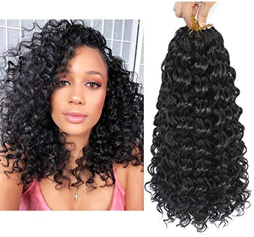 Dansama 6 Packs 14inch GoGo Curl Crochet Braids Water Wave Crochet Synthetic Hair Extensions product image