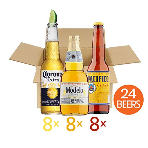 il migliore grandi affari sulla moda taglia 7 Mexican World Lager Beer 24 Bottles Mixed Pack - 8x330ml Corona Extra  Bottles 4.5% ABV, 8x355ml Modelo Especial Bottles 4.5% ABV and 8x355ml  Pacifico ...