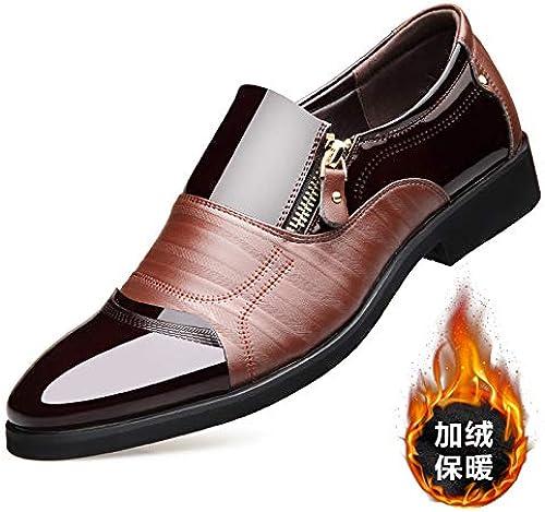 LOVDRAM Chaussures en Cuir pour Hommes Nouvel Hiver Chaussures pour Hommes en Cuir Décontractées pour Hommes VêteHommests De Mariage Chaussures De Mode Chaussures De Sport pour Hommes