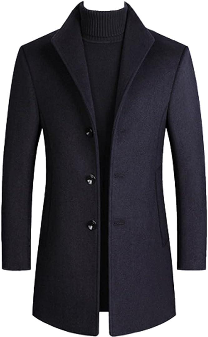 Men Wool Coat Winter Wool Jacket Thick Men Trench Coat 5 Color Men Woolen Coat