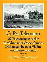 TELEMANN - Trio Sonata en La Mayor (TWV:42/a10) para Oboe, Violin y BC (Partitura/Partes)