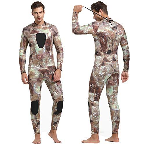 3 mm dik, warm, combinatie, mannen, lange mouwen, badpak, opschrift in appelvorm, surfkoud
