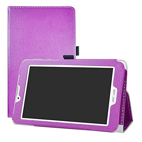 LFDZ Archos Access 70 3G Custodia, Slim Ultra Pelle Sottile e Leggera Cover Case Custodia per 7.0  Archos Access 70 3G Tablet,Viola