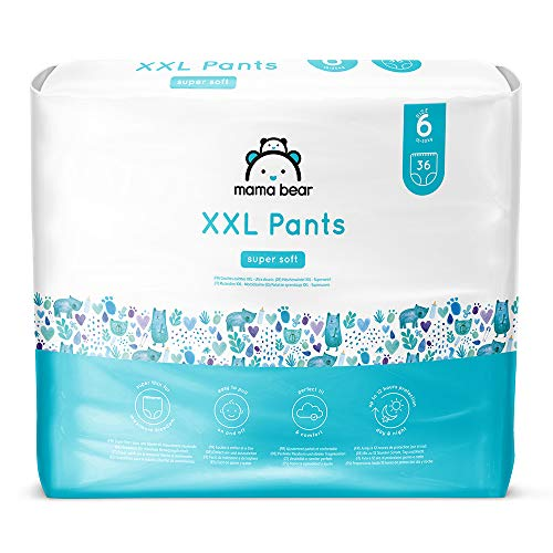 Marca Amazon- Mama Bear Pañal de aprendizaje XXL- Talla 6 (18-30kg), 72 pañales (2x36)