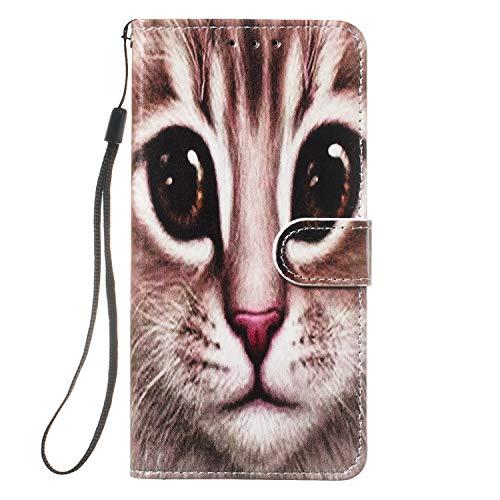 Hirkase iPhone 6,5 inch hoesje, Koffie Kat