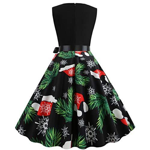 Weihnachten Damen Kleid, Xmas Frauen Vintage Party Rockabilly Cocktail Abendkleider...