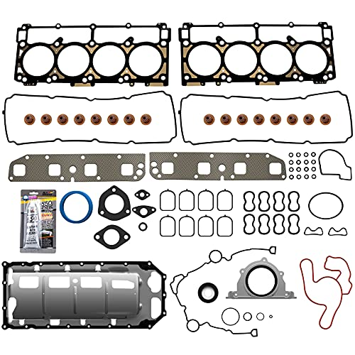 ECCPP Full Head Gasket Set for Dodge for Ram 1500 for Jeep for Chrysler 2003-2008 5.7L Automotive Replacement Engine Full Gasket Head Kits