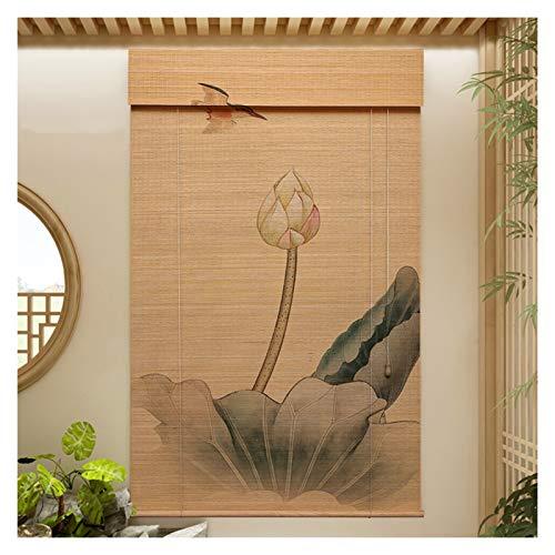CAIJUN Persianas Enrollables De Ventana, Bambú Natural Noche Cortina De Protección Solar para Ventana para Entrada Panel Decorativo, Tamaño Personalizado (Color : A, Size : 135x225cm)