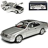 Mercedes-Benz Clase S Coupe CL600 C140 plata metalizada 1992-1998 1/18 Norev Modelo Coche