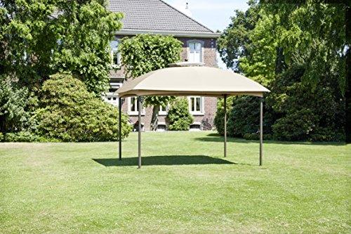 Ribelli Garten paviljoen 300 x 270 x 300 cm, waterafstotend - tuinpaviljoen tuintent overkapping 300x270x300cm beige