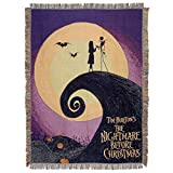 Disney's Nightmare Before Christmas, 'Linework Poster' Woven Tapestry Throw Blanket, 48' x 60', Multi Color