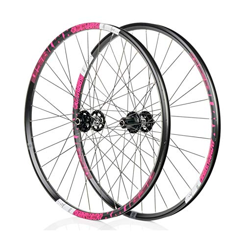 Mountain Bike 26/27.5 Inch Wheel, MTB Aluminum Alloy Wheel, High-Strength Cross-Country Bicycle Wheel Set, 6-jaw 72click System, Suitable for Off-Road, (XM1850)