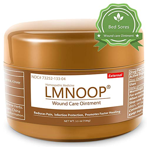 LMNOOP Bed Sore Cream - Infection Protection Skin Healing Treatment Wound Care Supplies, Medical Grade First Aid Ointment for Bed & Pressure Sores Diabetic Venous Foot & Leg Ulcers Cuts Scrapes Burns