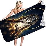 Space Lion Wolf Series Toalla De Playa Rectangular Patrón De Impresión Digital 3D Toalla De Baño Absorbente De Secado Rápido Toalla De Microfibra para Exteriores 75 * 150cm