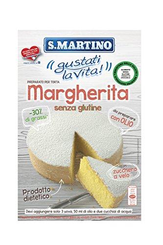 S.Martino - Torta Margherita -30% di Grassi - Astuccio 435G - [confezione da 5], Senza glutine