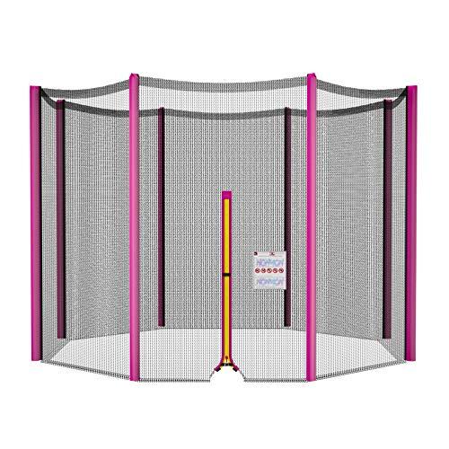 NONMON Red de Seguridad Repuesto para Trampolín Exterior,Círculo Diámetro 305 cm,Resistente a Rayos UV & Recinto de Malla,Envolvente Protectora para 10ft Cama Elástica Jardín Deportivo de 6 Barras
