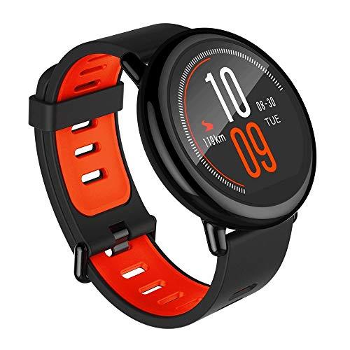 AMAZFIT Pace-Smartwatch con GPS Multideporte 1.34 pulgadas Táctil,GPS y Bluetooth,Monitor de Ritmo Cardíaco,Reproduce música sin Móvil,(Versión Internacional)iOs y Android(Negro) (Reacondicionado)