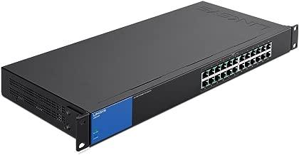 Linksys Business LGS124P 24-Port Rackmount Gigabit Ethernet PoE+ Unmanaged Network Switch I Metal Enclosure