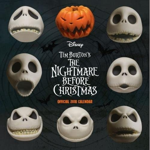 Nightmare Before Christmas Official 2018 Calendar - Square Wall Format Calendar (Calendar 2018)