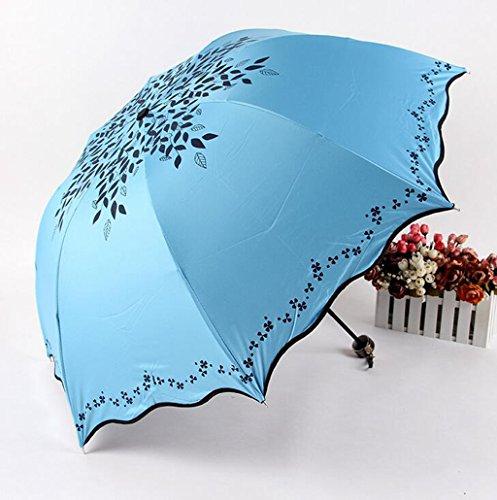 GTWP GTWP GT Regenschirm Manual Mode 3 Folding Umbrella kreative Stockschirm Robuste Winddicht Anti-UV-Sonnenschutz Dach