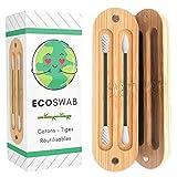 EcoSwab Coton Tige Réutilisable Pour Les Oreilles, Embouts Lavable en Silicone et...