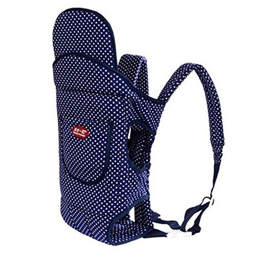 Quatre position Porte-bébé avec Excellent Maintien du dos en hiver (Bleu points)
