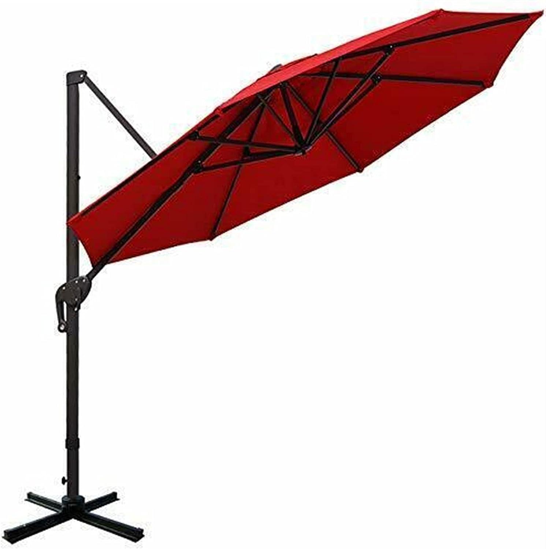 GXK Outdoor Umbrellas 11ft Offset Japan's largest assortment Umbrella Denver Mall Hanging Patio