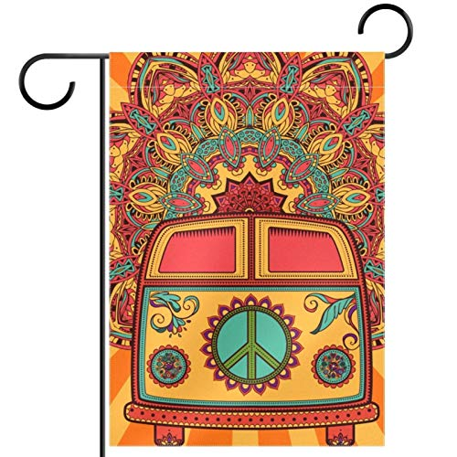 Yard Decor Outdoor Sign Garden Flags Hanging Ornament,bus,for Terrace Potted Deck