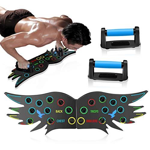 NIUPSKY Push Up Board Multifuncional Tabla de Flexiones de Codos Desmontable Portátil Gimnasia de Mantenimiento Entrenamiento de Fuerza Herramienta de Soporte para para Entrenamiento Muscular Equipo