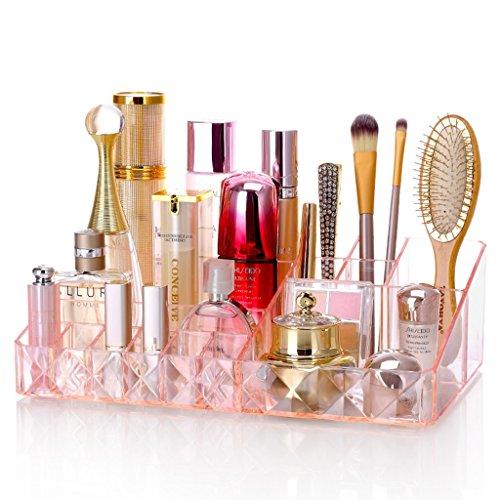 Boîte à bijoux coffret à maquillage bijoux et cosmétique beauty Case Boîte à Mallette/ coffrets/ boîte à maquillage bijoux et cosmétique beauty Case Coffrets boîte à maquillage beauty Case Organisateur Maquillage ( Color : Pink )
