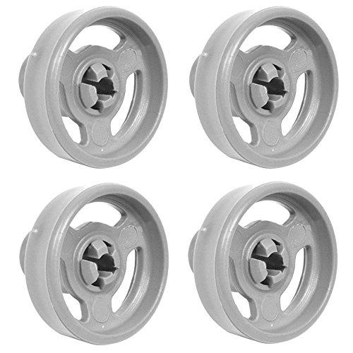 véritable Panier inférieur roues et essieux pour aspirateur HOOVER hed6612/1–80 Passe au lave-vaisselle (Lot de 4)