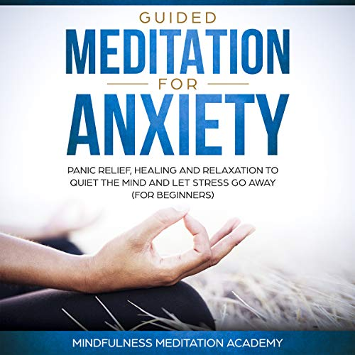 Guided Meditation for Anxiety, Panic Relief, Healing and Relaxation to Quiet the Mind and Let Stress Go Away audiobook cover art