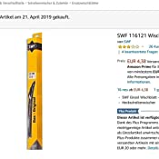 Swf 116121 Wischblatt Auto