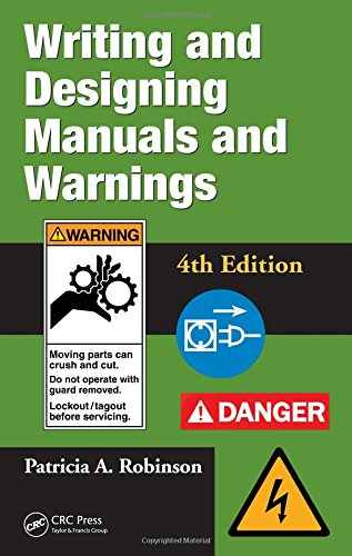 Compare Textbook Prices for Writing and Designing Manuals and Warnings 4e 4 Edition ISBN 9781420069846 by NoContributor