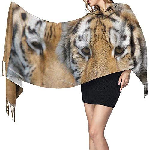 Niet toepassbare wilde tijgerprint kasjmier sjaal dames casual warm sjaal wrap sjaal groot
