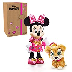 Dressed in adorable party outfits, Minnie Mouse and Phoebe are ready to go to the puppy party! Kids will love joining Minnie Mouse and Phoebe on a fun adventure with the Disney Junior Minnie's Party & Play Puppy. Minnie's Party and Play Puppy feature...