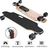 Aceshin Electric Skateboard Longboard with Remote Small for Kids Teens, 250W Motor, 12 MPH Top Speed (E-Black(Longboards))