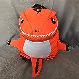 Drôle Design - Mochila para niños y niños, diseño de Animales con Forma de Dinosaurio Maternal, Color Naranja