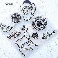 クリスマス透明クリアシリコーンスタンプ/シールDIYスクラップブッキング/フォトアルバム装飾的なクリアスタンプシート