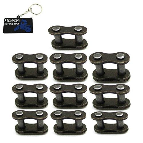 STONEDER 10 eslabones de repuesto para cadena de 25H para 2 tiempos, 33 cc, 43 cc, 47 cc, 49 cc, Mini Moto Kids ATV Quad Dirt Pocket Bike Gas E Scooter
