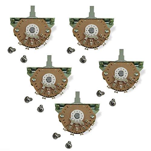 Oak Grigsby 5-way Blade Switch w/Mounting Screws - Bulk Lot of 5