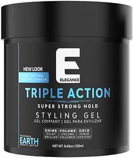 ELEGANCE GEL Triple Action Hair Gel, Blue, 8.8 Oz