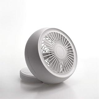 Color : White XIAOF-FEN Fashion Clip Fan Night Light Dual-use Fan Shake Head USB Charging Mini Fan Handheld Desktop Fan USB Fan