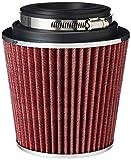 K&N RG-1001RD Filtro Universal, Cromado Coche y Moto