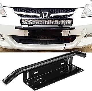 Aluminum License Plate Frame, License Number Plate Frame Holder Bull Bar Bumper Mount Light Lamp LED Bracket, Fit for MostCar, Offroad, Truck, Pickup, SUV