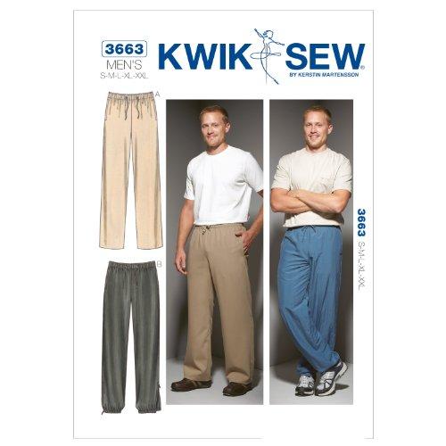Kwik Sew K3663 Pants Sewing Pattern, Size S-M-L-XL-XXL