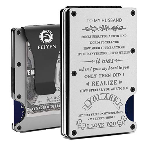 Personalized Engraved Aluminum Front Pocket Metal Money Clip Wallet...